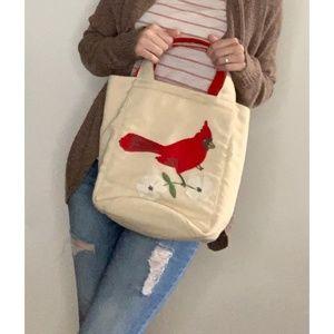 VTG Palmer Smith Linen Yarn Bag Cardinal Purse